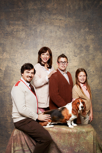 Danny McBride wallpaper titled Danny McBride and Maya Rudolph - Awkward Family Photos for GQ - 2013