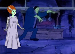 Daphne as the Bride of Frankenstein