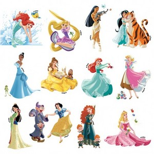 Disney Princesses with their sidekicks