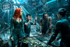 EW's Aquaman First Look - Amber Heard, James Wan and Jason Momoa Behind the Scenes