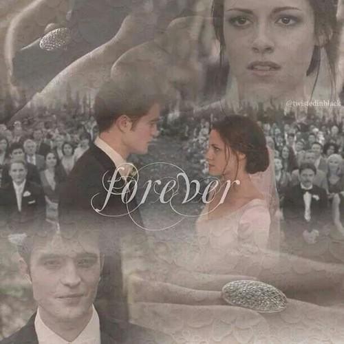Twilight Series پیپر وال entitled Edward and Bella