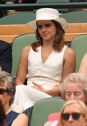 Emma Watson at Wimbledon in Londres [July 14, 2018]