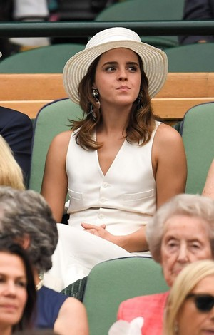 Emma Watson at Wimbledon in ロンドン [July 14, 2018]