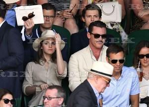 Emma Watson at Wimbledon in London with Luke Evans [July 15, 2018]