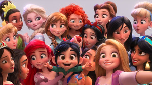 FANMADE: Elena with disney Princesses in Ralph Breaks the Internet