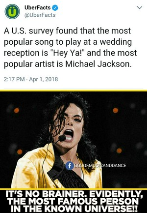 Fact - MJ is the MOST 流行的 ARTIST