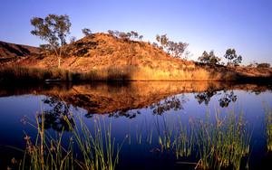 Finke River near Glen Helen West Macdonnell Range Northern Territory Australia