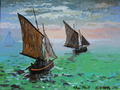 Fishing Boats After Monet - fine-art fan art