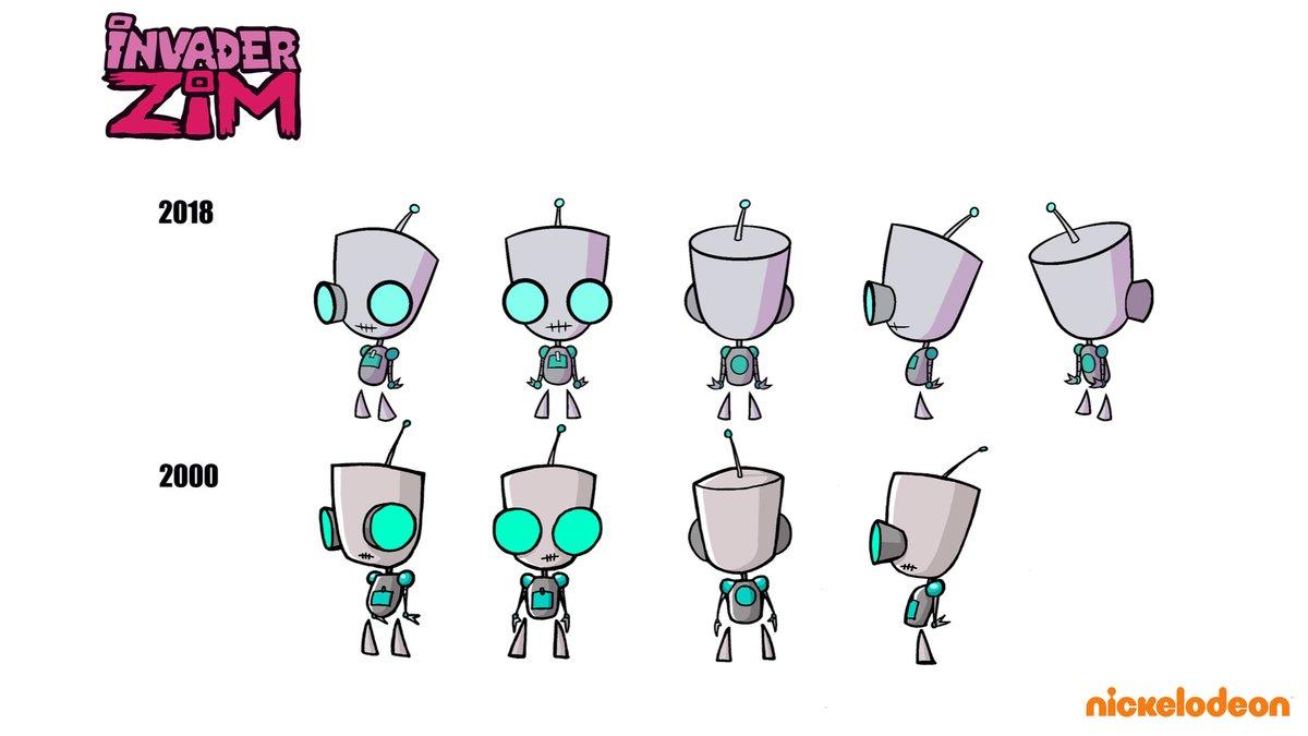 GIR Character disensyo Evolution