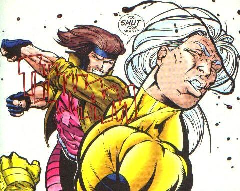 Gambit achtergrond called Gambit punches Joseph