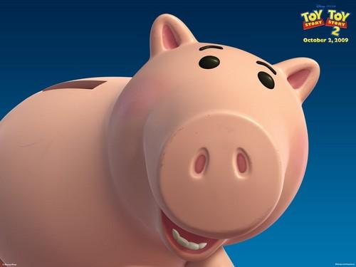 Toy Story 2 壁纸 entitled Hamm