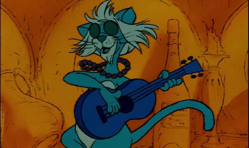 প্রথমশ্রেণীর ডিজনি দেওয়ালপত্র titled Hit Cat