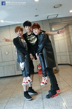 Hoseok, Kookie and Suga