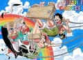 straw hats - one-piece wallpaper