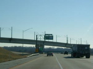 Interstate 70 East at Exit 238C, Interstate 170 North exit (1999)