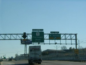 Interstate 70 East at Exit 239, N. Hanley Rd exit (1999)