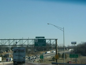 Interstate 70 East at Exits 240A-B, Route N, Florissant Rd exits (1999)