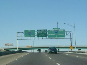 Interstate 70 West at Exit 232, Interstate 270 exits (1999)