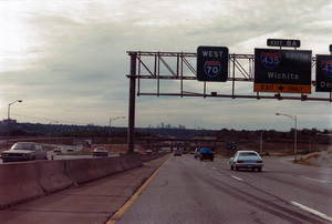 Interstate 70 West at Exits 8A-B, Interstate 435 exits (1987)