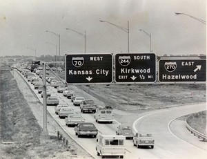 Interstate 70 West at Interstate 270 East exit (1972)