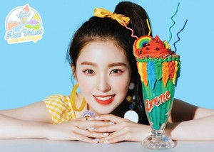 Irene's teaser image for 'Power Up' (Blue Ver.)