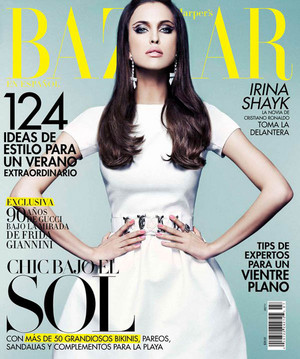 Irina Shayk covers Harper's Bazaar Mexico [July 2011]