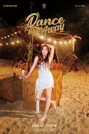 Jihyo's teaser image for 'Dance the Night Away'