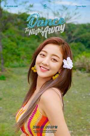 Jihyo's teaser image for 'Dance the Night Away'