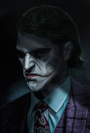 Joaquin Phoenix as The Joker - peminat Art sejak BossLogic