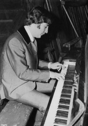 John plays the piano
