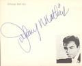 Johnny Mathis Autograph