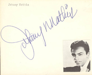 Johnny Mathis Autograph