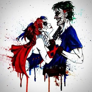 Joker and Harley Quinn paint