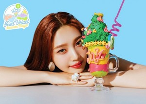 Joy's teaser image for 'Power Up' (Blue Ver.)