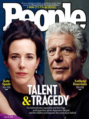 Kate pá and Anthony Bourdain