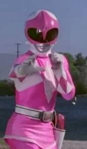 Kimberly Morphed As The merah jambu Mighty Morphin Ranger