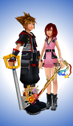 Kingdom Hearts 3 Sora and Kairi Together to The End