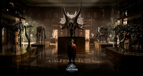 Jurassic World kertas dinding entitled Kinlee And Elijah to promote Jurassic World Fallen Kingdom