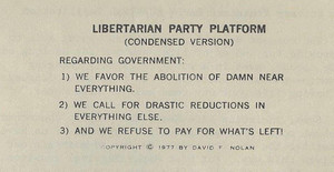 Libertarian Party Platform: The Condensed Version