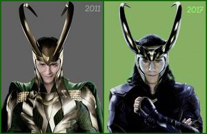 Loki Laufeyson ~2011 and 2017