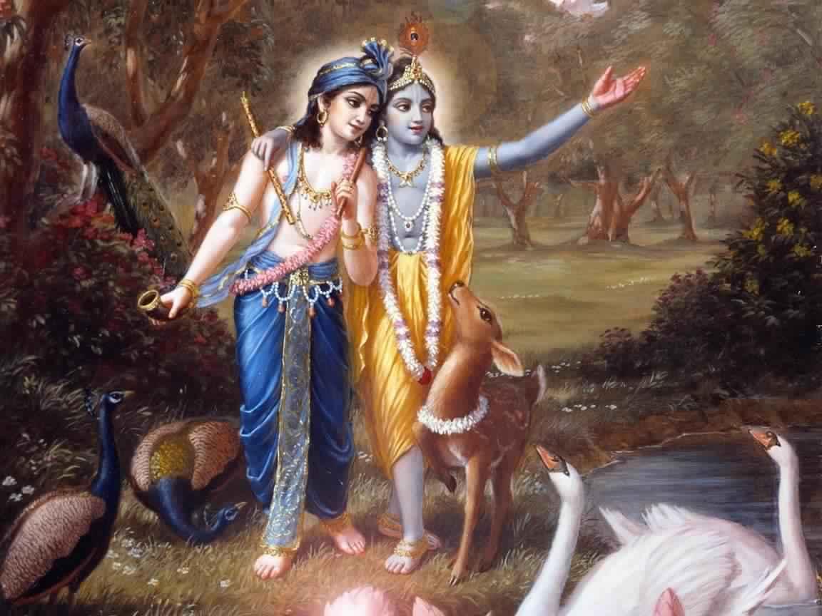 lord krishna with balaram