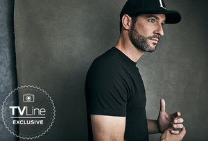 Lucifer's Tom Ellis at San Diego Comic Con 2018 - TVLine Portrait