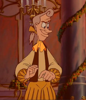 Lumiere in white hair