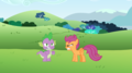 MLP Fanart Spike vs. Scootaloo - my-little-pony-friendship-is-magic fan art