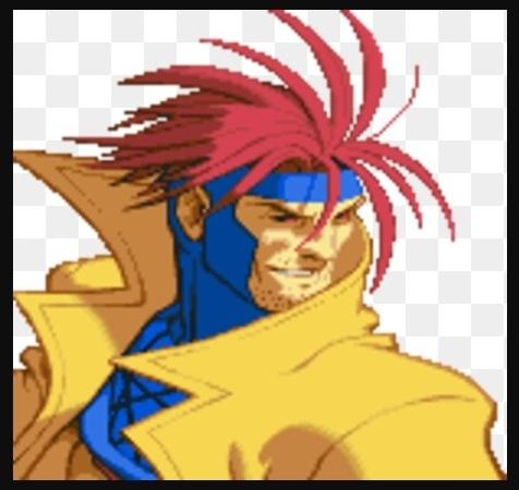 Gambit karatasi la kupamba ukuta called Marvel Vs Capcom - Gambit