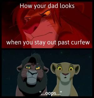 Meme with Simba Kovu and Kiara