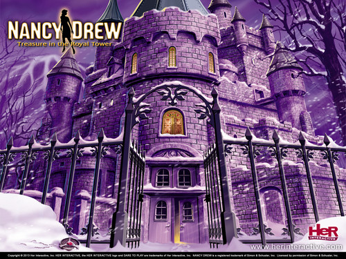 Nancy Drew games 바탕화면 entitled Message in the Royal Tower