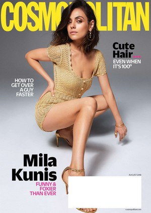 Mila Kunis covers Cosmopolitan US Magazine [August 2018]