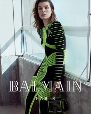 Milla Jovovich for Balmain F/W 2018 Campaign