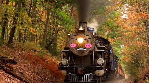 Thomas the Tank Engine Hintergrund entitled Mily Slips Uphill